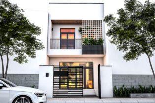 thiết kế nhà phố 2 tầng quảng ngãi